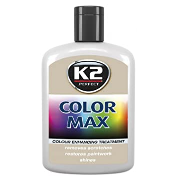White K2 Color Max Car Paint Polish Colour Restorer Cover Scratches Enhance Lustre