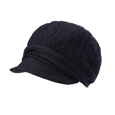 Cappello di lana Autunno e l inverno spessa basco mosaico artista cappello  maglia 1c6d8e63f1b9