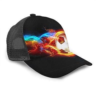 Gorra de béisbol Unisex con diseño de flama, Pelota de fútbol ...