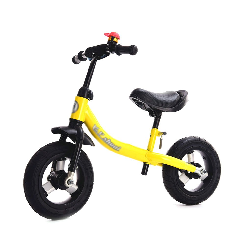 子供のスクーターペダルなしバギー子供ダブルホイール自転車子供のスクーターベビースクーターなしペダル2輪スクーターバランス車の歩行者の葉2-8歳 B01LZ4RQLF イエロー いえろ゜ イエロー いえろ゜