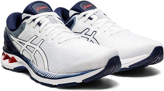 Asics Zapatillas de running Gel-Kayano 27 para hombre, Blanco (Blanco (White/Peacoat)), 44.5 EU: Amazon.es: Zapatos y complementos