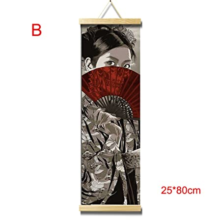 Crewell HD Canvas Painting Wall Art Poster Japanese Style Home Decor Hanging Picture For Living Room Bedroom Amazoncouk Kitchen