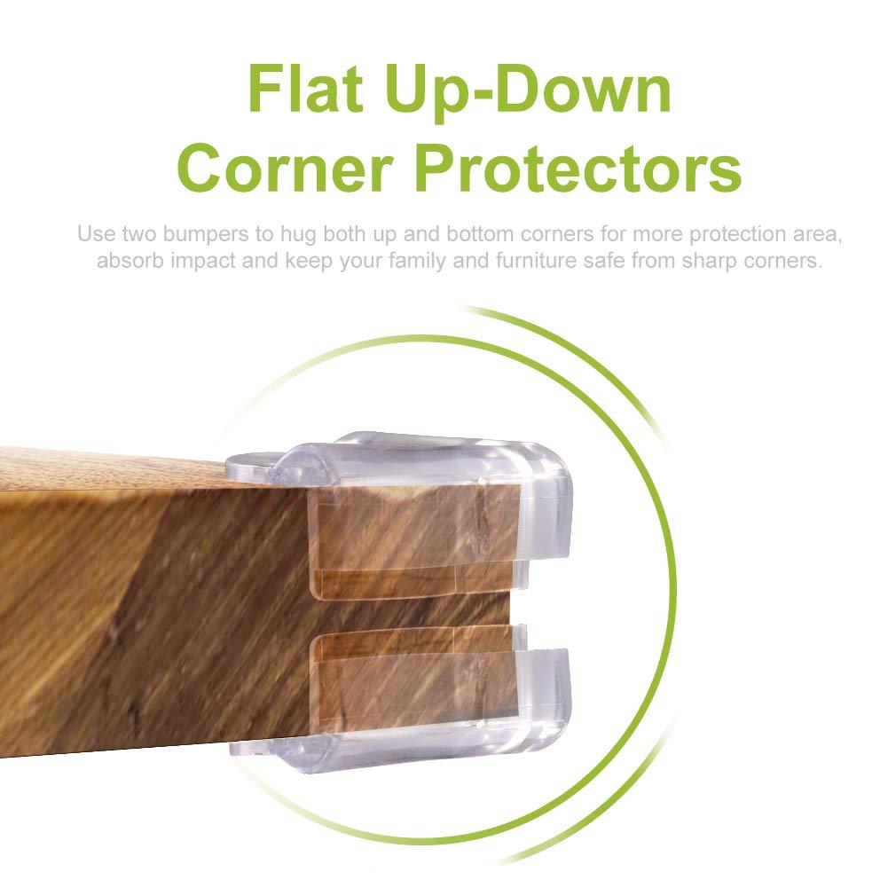 Transparent Swonuk 20pcs Thickening Table Corner Guard Edge Corner Protector with Glue Round
