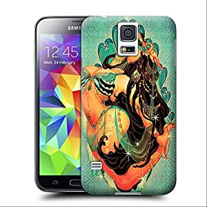 Unique Phone Case Personalities pattern Japanese artist One Nao creates a beautiful Arabian belly dancer in this pin up girl design Hard Cover for samsung galaxy s5 cases-buythecase wangjiang maoyi
