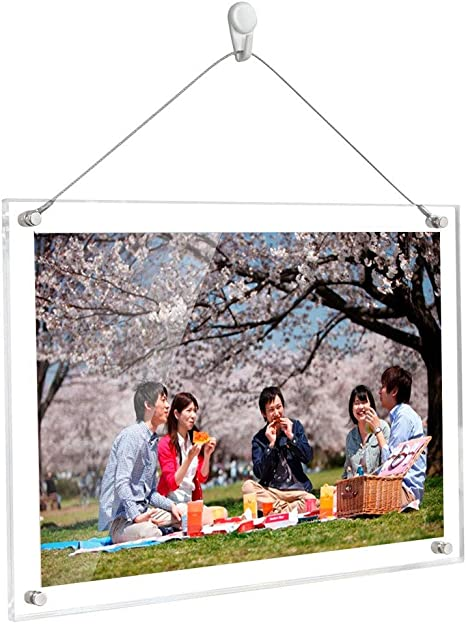 Acryl Foto Rahmen Doppelt Seitig Magnetic Hochzeit Bilderrahmen Desktop Display