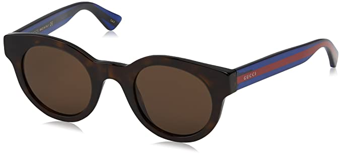 bbaf371d33f Image Unavailable. Image not available for. Color  Gucci GG0002S-004-46  Blue Square Sunglasses