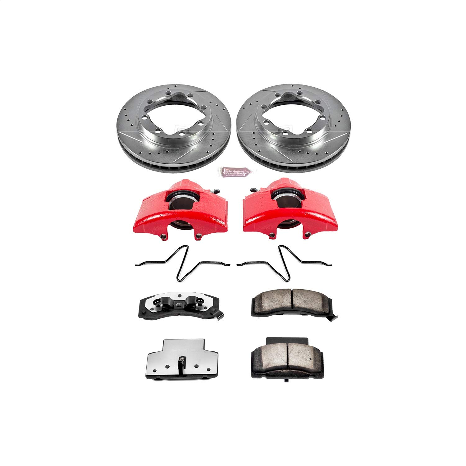 Power Stop KC1992-36 Z36 Extreme Performance Truck /& Tow 1-Click Brake Kit with Calipers