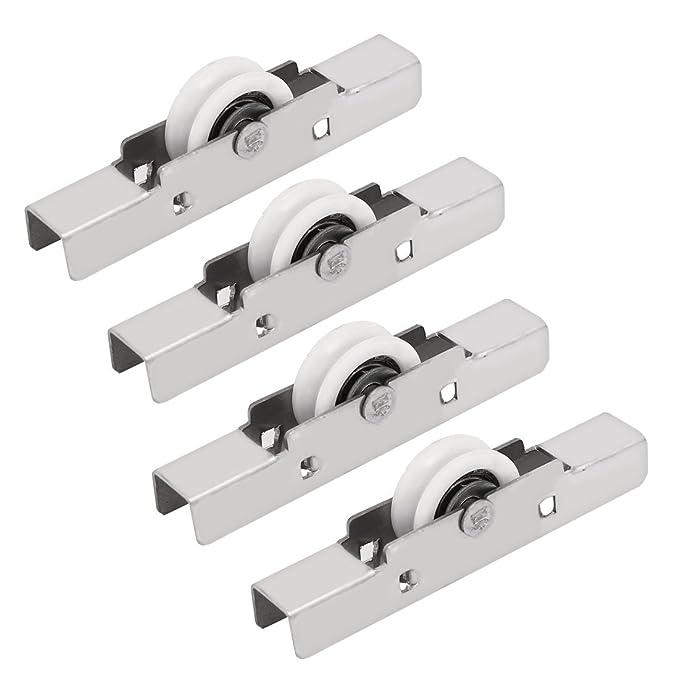 sourcingmap/® 1,1 correderas 4pcs puerta de la ventana de guillotina rueda de polea /único rodillo