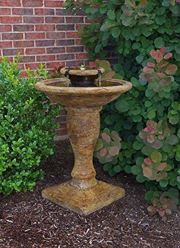 HENRI Studio 2-Piece Windstone Fountain with LED Light Kit,