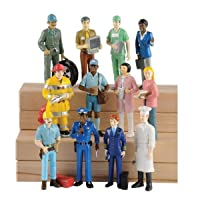 Marvel Education Pretend Professionals Career Doll Figures, Toy Figures for Kids, Set of 12