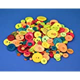 Docrafts 250 g Mixed Bright Assorted Buttons
