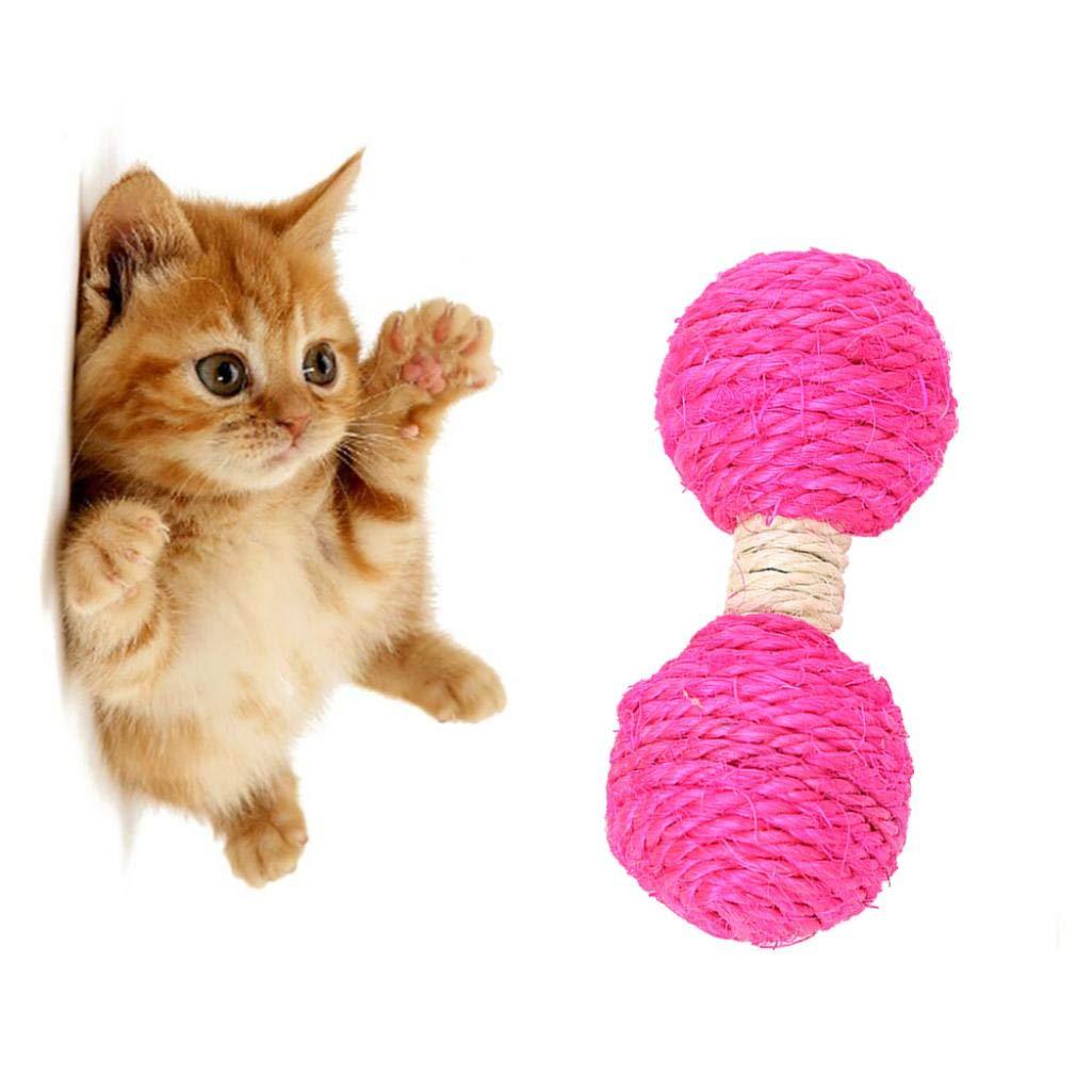 XKSIKjians Cat Toys Orange Cat Kitten Sisal Hemp Dumbbell Toy Chew Teaser Supplies Scratching Activity Toys Mice Animals Pussycat Pet Accessories