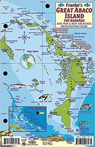 Great Abaco Island Bahamas Dive Map & Reef Creatures Guide Franko ...