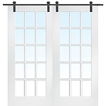 Charmant National Door Company ZA09622 Primed MDF 15 Lite True Divided Clear Glass  60u0026quot; X 80u0026quot