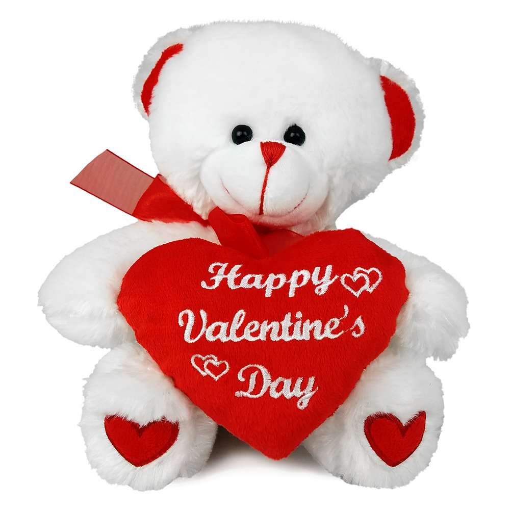 "Amazon.com: Happy Valentine's Day Bear 8"" Animal Plush"