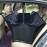 Pet Dog Seat Cover For Car Waterproof Back Seat Large Plush Rear Car Protector
