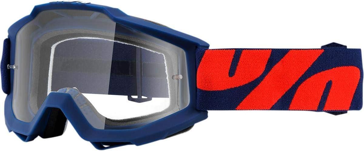 Maschera Mx 100 Percent Accuri Clear Lens Default , Blu Anti Fog Clear Lens Raleigh