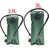 Hydration Bladder Water Storage Reservoir 2.5L,3L Military Survival Bag Pack with Bite Valve Cover/Insulated Tube for Cycling,Camping,Hiking