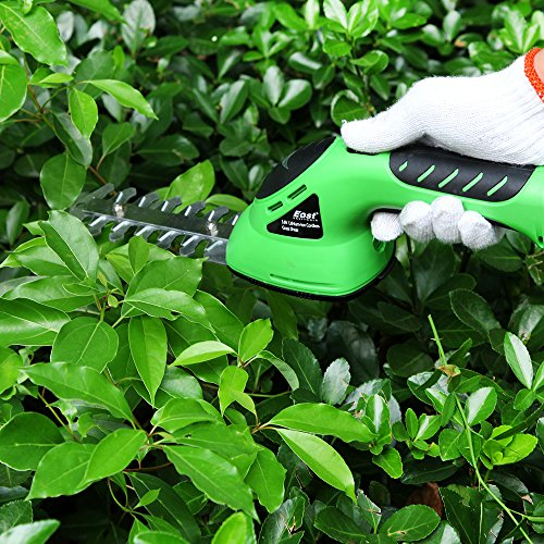 East garden tools ET2704C 3.6V 2in1 Li-Ion battery Pruning tool Cordless Hedge Trimmer Grass Trimmer Brush Cutter Shrub Shear by Generic