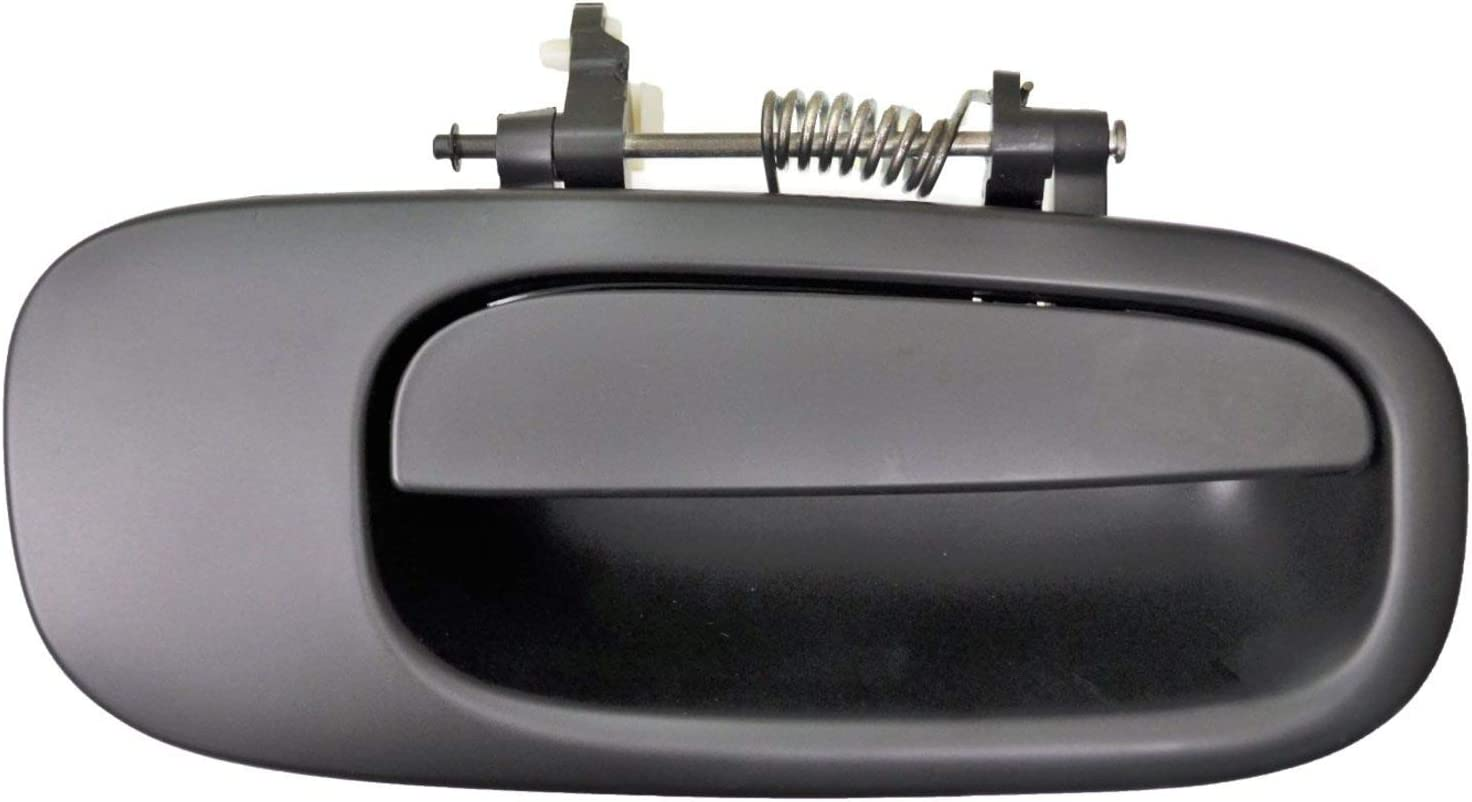 Exterior Outer Outside Door Handle Primed Black Passenger Side Front