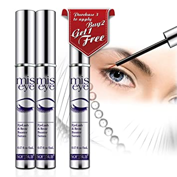 e7e6bae1784 Natural Eyelash Growth Serum by Softsub, For Voluminous Long Brow & Thicker Rapid  Lash boost