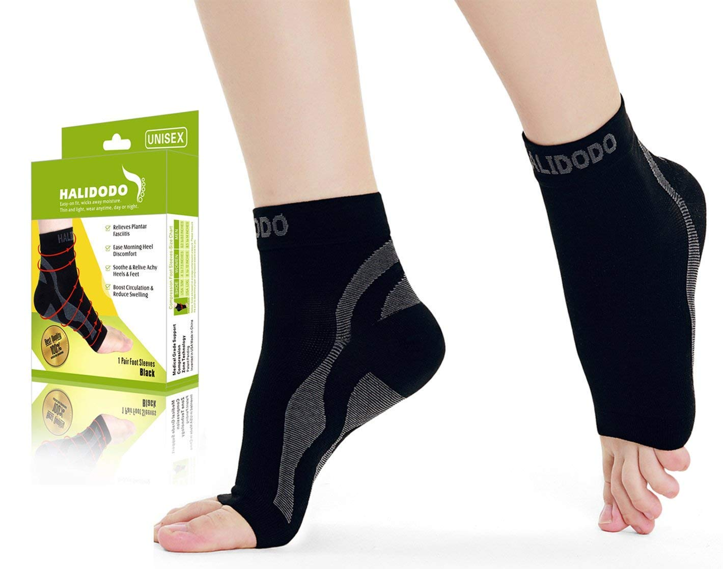 f9e47253dc Amazon.com: Plantar Fasciitis Compression Socks with Arch Support,  Compression Foot Sleeve Eases Swelling and Heel Spurs, Ankle Brace Support,  ...