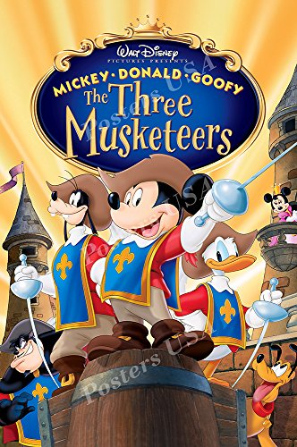PremiumPrints - Disney The Three Musketeers Movie Poster - XFIL090 (Premium Canvas 11