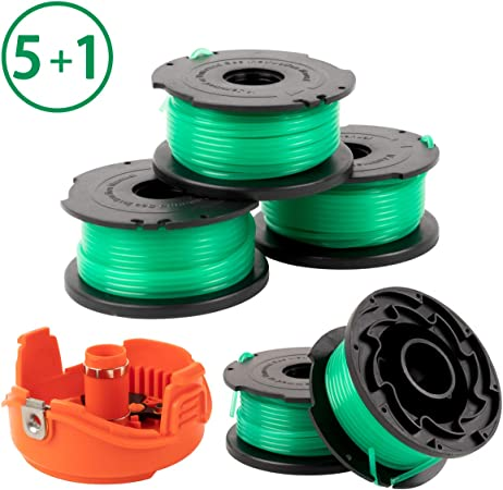 X Home Trimmer Replacement Spools Compatible with Black Decker SF-080 GH3000 LST540 Weed Eater, 20ft 0.080 inch Edger Refills, Single Line Cord Parts, ...