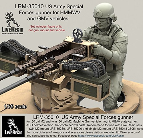 Live Resin 1:35 US Army Special Forces Gunner ACH Helmet Figure Kit #LRM35010