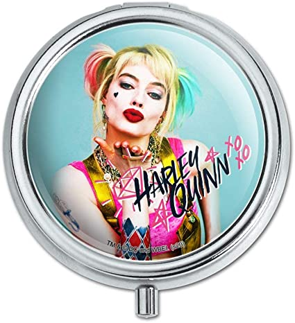 Amazon Com Birds Of Prey Harley Quinn Blowing Kisses Pill Case Trinket Gift Box Health Personal Care