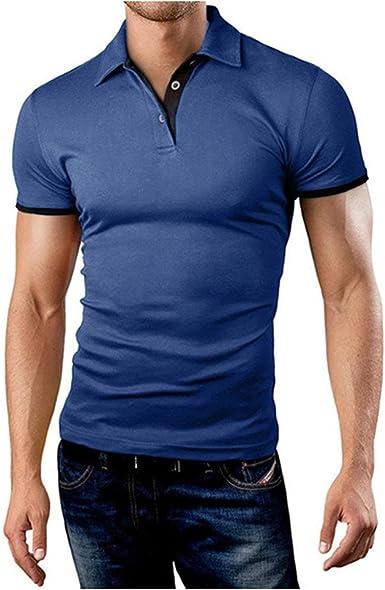 Camisa De Polo De Hombre De Camisa Polo Simple Estilo De ...