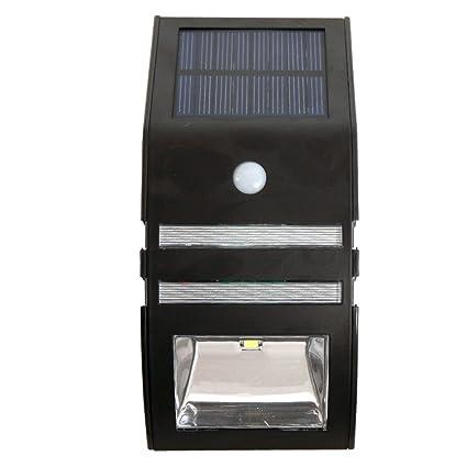 Veesee Solar LED con sensor de movimiento ultra brillante pared exterior del sensor de luz solar