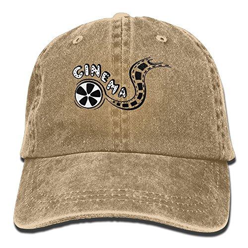 Hainingshihongyu Vintage Film Movie Set Camera Baseball Caps Adult Sport Cowboy Trucker Hats Adjustable Natural