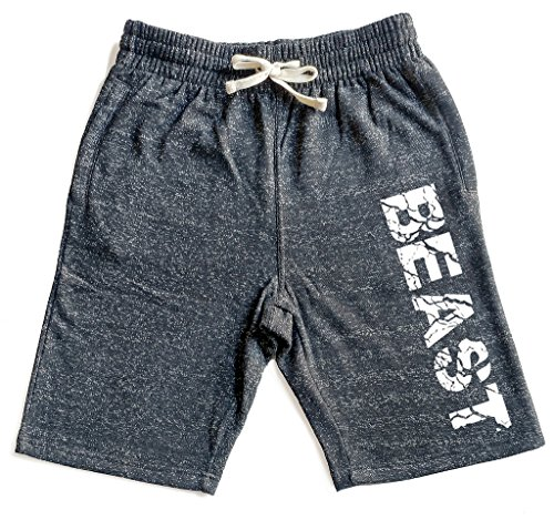 Men's Cracked Beast Graphic Snow Fleece Jogger Sweatpant Gym Shorts – DiZiSports Store