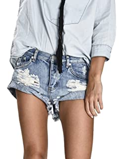 Minetom Damen Shorts Cool Loch Kurz Jeans Damen Beiläufige Hoher Taille  Kurze Hosen Ripped Ausgefranste Quaste d395e9fa98