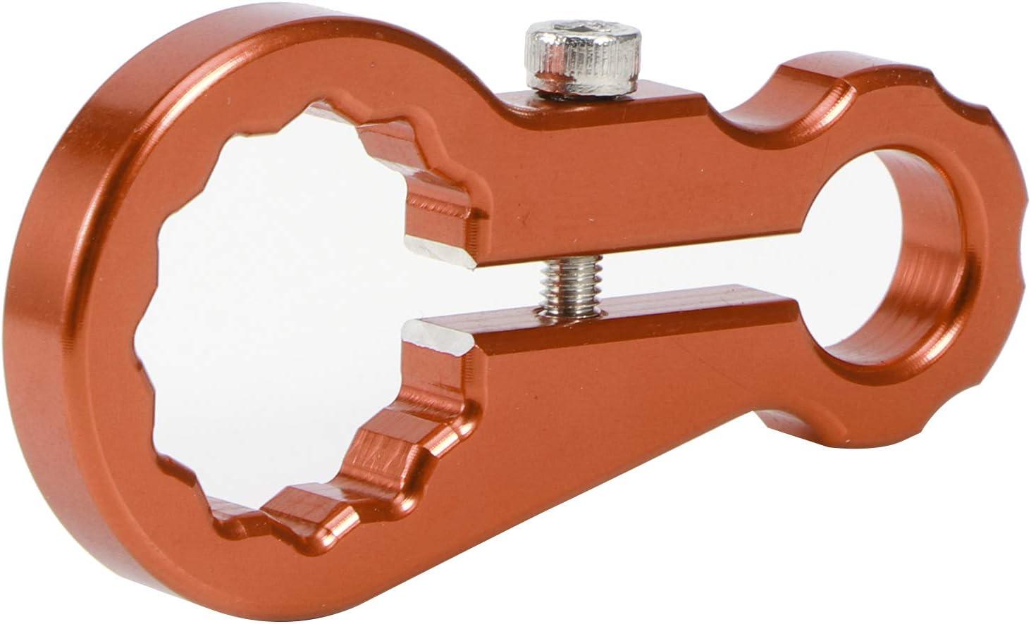 Orange Rear Shock Absorber Spanner,Rear Shock Absorber Adjustment Wrench Shock Absorber Repair Tool Fit for 125 150 250 300 350 450 500