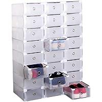 Tama/ño: 35 * 25 * 187 cm Cajas de Almacenamiento Plegables de Pl/ástico Transparentes ERICSON Garcia Home Juego de 6 Cajas Apilables para Bambas Zapatos o Ropa