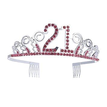 21 cumpleaños Crystal Tiara Queen Princess Crowns Dance ...