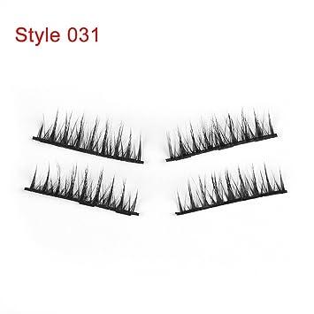781ebd0f40d Amazon.com : 1Set Triple Magnetic False Eyelashes Makeup Handmade Full  Coverage Magnet Eye Lashes Thick Long Fake Eyelashes Extension Make Up :  Beauty