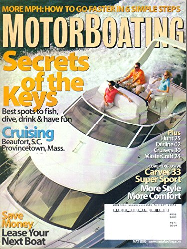 Motorboating Magazine, May 2005 (Vol 195, No 5) - Mastercraft Boat Cover