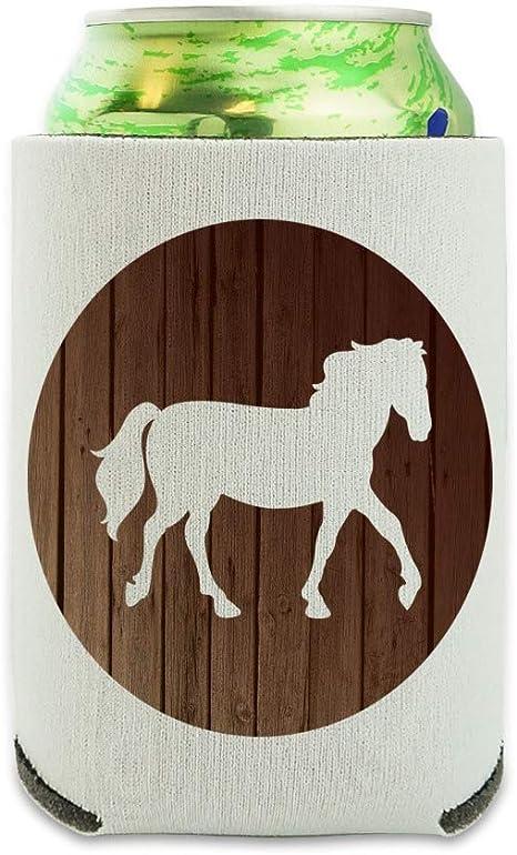 Glitter Western Horse Head Can Cooler