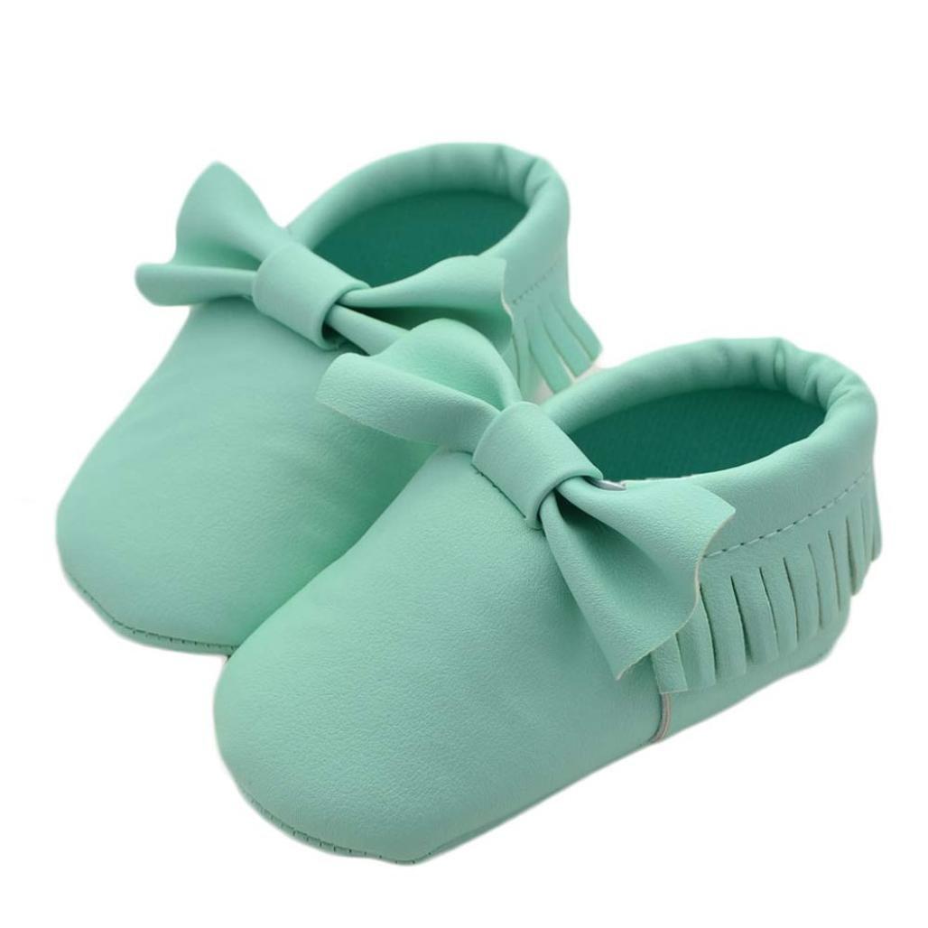 経典ブランド elaco幼児用ソフトソールカジュアル靴スニーカー Months、赤ちゃん女の子蝶結びタッセルシューズ 0 B06XSDT4XZ - グリーン 6 Months グリーン B06XSDT4XZ, G-wheel Direct Store:57548a4c --- quiltersinfo.yarnslave.com