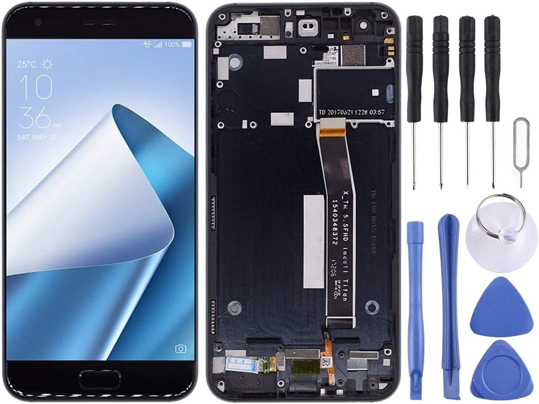 SHIFENX Incell LCD Screen and Digitizer Full Assembly for Galaxy A30 A50 Color : Black A50s Replacement Part