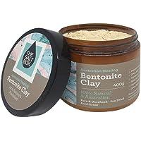 The Salt Box 100% Natural Australian Bentonite Clay 400 Jar for Deep Cleansing Face Mask and Detox Bath. Food Grade Sodium Bentonite.