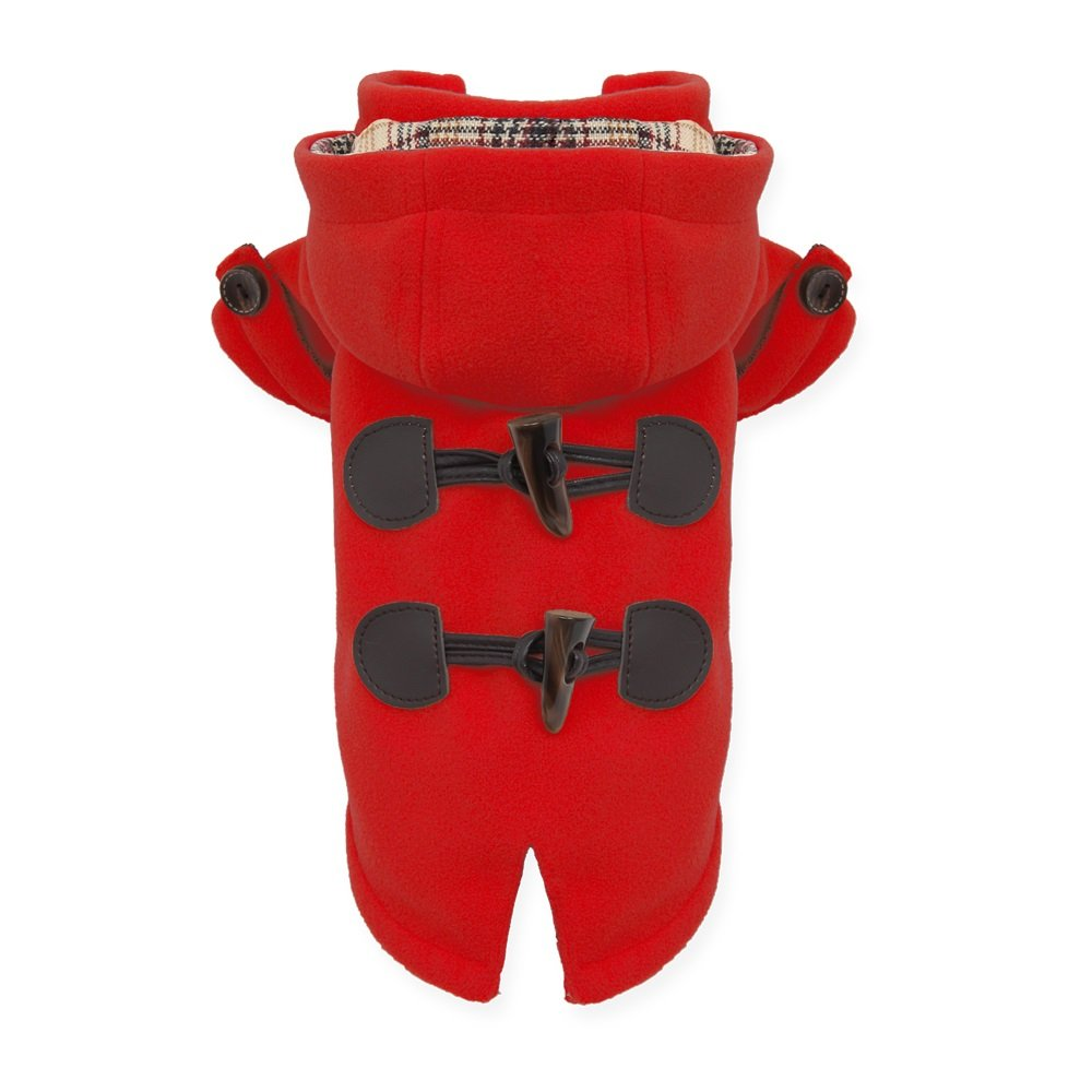 Red XXX-Large red XXX-Large Puppy Angel BBOKKI Duffle Coat, XXX-Large, Red