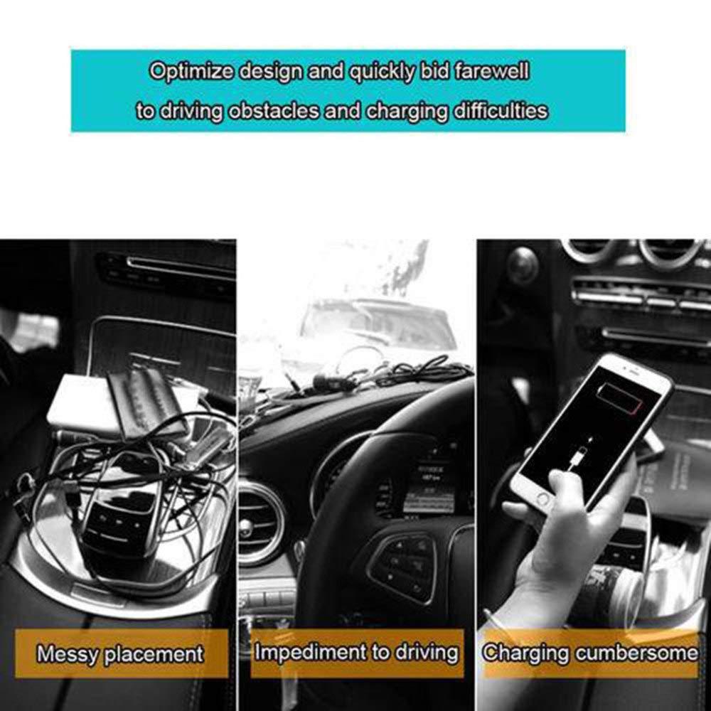 JXWANG Organizer f/ür Auto,Sitz Tasche Aufbewahrungsbox Ablagefach Autositz Seiten Schlitz Taschen mit Dual USB Sitz Aufbewahrungsbox f/ür Auto f/üllt L/ücken Zwischen den Sitzen