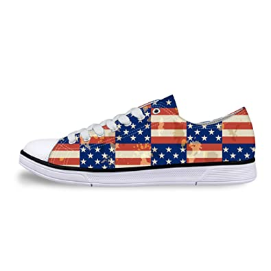 db5efa04fe13f Amazon.com | Mumeson Stylish American Flag Print Unisex Canvas ...