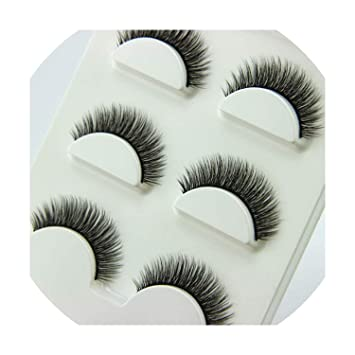 4e161a9fb15 Amazon.com : 3 Pairs/1 set 3D Cross Thick False Eye Lashes Extension Makeup  Super Natural Long Fake Eyelashes New, 12mm : Beauty
