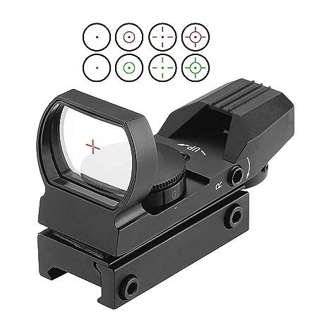 Red Dot Caccia 4 reticoli 5 Impostazioni di Luminosità Punto Rosso per Fucile
