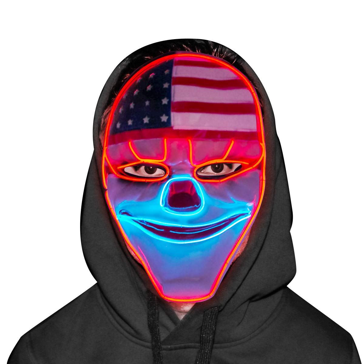 Payday Mask - Cool EL Wire Light Up Mask with Cushion Sponage